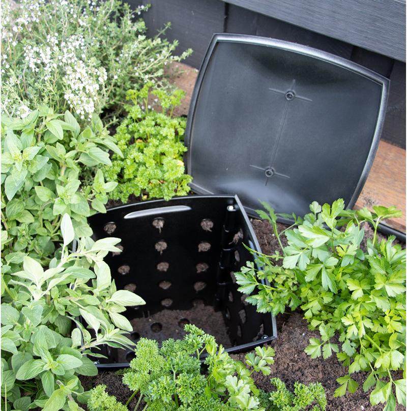 Thùng nuôi trùn quế từ ủ compost tại vườn rau